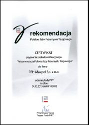 Maxpol z rekomendacją Polskiej Izby Przemysłu Targowego