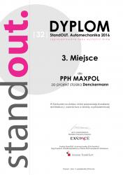 PPH Maxpol Sp. z o.o. został wyróżniony w konkursie STAND OUT