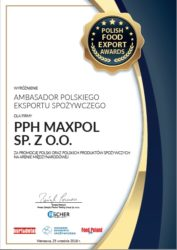 Maxpol z nagrodą Ambasadora Polskiego Eksportu Spożywczego